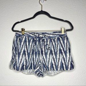 3/$30 j. Crew factory ikat linen blend shorts